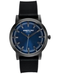 Kenneth Cole New York Men's Black Silicone Strap Watch 44X51mm 10030808