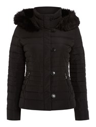 Armani Jeans Short Padded Jacket With Removable Hood Black