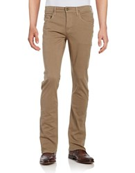 Hudson Jeans Byron Straight Leg Tan Wash Quicksand