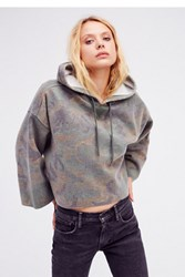 Free People Womens Camo Real Talk Pullover