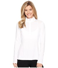 Spyder Aura Tech T Neck Top White Women's Long Sleeve Pullover