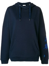 Closed Embroidered Hoodie Blue