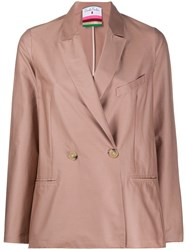 Danielapi Double Breasted Fitted Blazer Pink