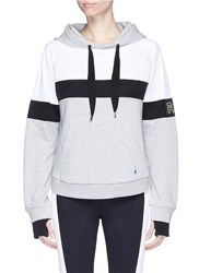 P.E Nation 'Fly Ball' Mesh Panel French Terry Hoodie Grey