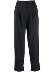 Maison Martin Margiela Mm6 Cropped Tailored Trousers Black