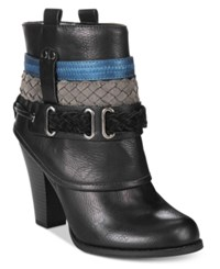 Mojo Moxy Dolce By Brigade Cuffed Western Booties Women's Shoes Black