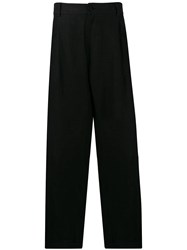 Isabel Benenato Loose Fit Trousers Black