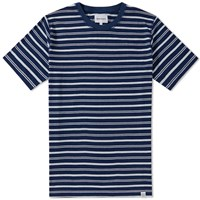 Norse Projects Niels Indigo Stripe Tee Blue