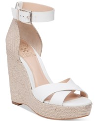 Vince Camuto Maurita Platform Espadrille Wedge Sandals Women's Shoes Picket Fence Natural