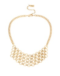 Kenneth Cole Honeycomb Pave Chain Frontal Necklace Gold