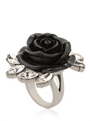 Mawi Rose And Crystal Spring Ring