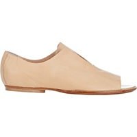 Open Toe Flo Oxfords Beige Tan