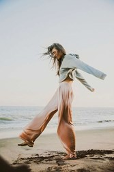Urban Outfitters Uo Pleated Palazzo Pant Pink