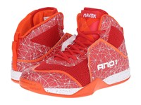 And 1 Havok Red Fiery Red Tiger Lily Men's Basketball Shoes