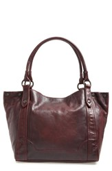 Frye 'Melissa' Washed Leather Tote Burgundy Wine