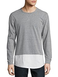 Civil Society Roundneck Heathered Pullover Heather Grey