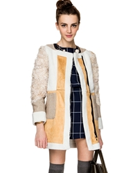 Pixie Market Show Stopper Shearling Suede Coat