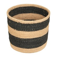 The Basket Room Linear Fusion Mchoro Hand Woven Black Neutral