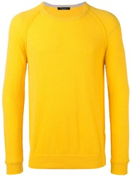 Roberto Collina Knitted Top Yellow Orange