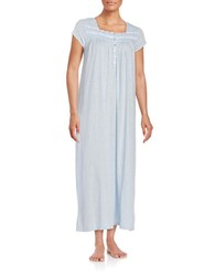 Eileen West Dotted Nightgown Blue