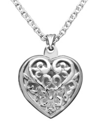 Giani Bernini Sterling Silver Pendant Heart Locket