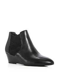 Via Spiga Harlie Demi Wedge Booties Black