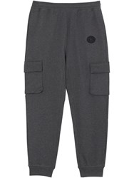 Burberry Pocket Detail Cotton Jersey Trackpants Grey