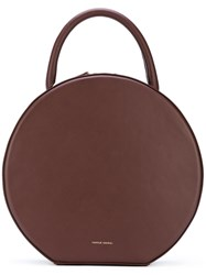 Mansur Gavriel Circular Handbag Women Leather One Size Red