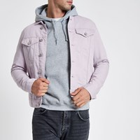 River Island Light Purple Denim Jacket
