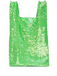 Ashish Sequin Slouchy Tote Green
