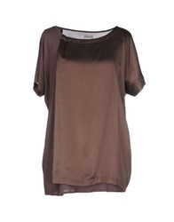 Alpha Studio Topwear T Shirts Women Dove Grey