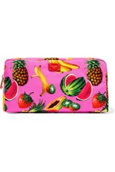 Dolce And Gabbana Printed Shell Cosmetics Case Pink