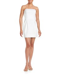 French Connection Strapless Cotton Blend Dress White