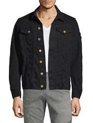 Robin's Jean Embroidered Cotton Motorcycle Jacket Black