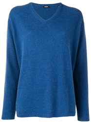 Aspesi V Neck Jumper Blue