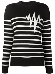Each X Other Heartbeat Intarsia Sweater Black