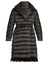 Max Mara Noves Reversible Coat Black