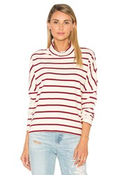 Stateside Wine Stripe Turtleneck Cream