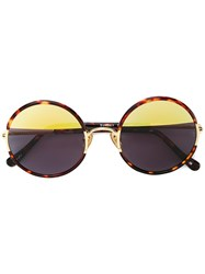 Sunday Somewhere Round Yetti Sunglasses Brown