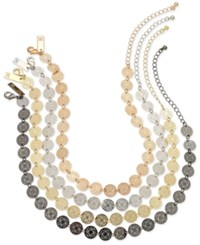 Inc International Concepts Multi Tone 4 Pc. Set Beaded Choker Necklaces Created For Macy's Gold Multi