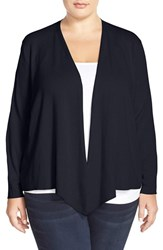 Plus Size Women's Nic Zoe 4 Way Convertible Cardigan Midnight