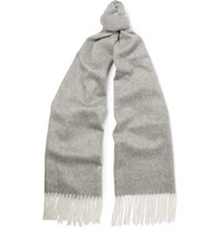 Begg And Co Arran Two Tone Cashmere Scarf Gray