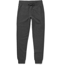 Moncler Slim Fit Loopback Cotton Jersey Sweatpants Charcoal
