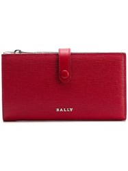 Bally Lamber Embossed Wallet Red