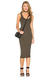 Enza Costa Silk Rib Tank Dress Army