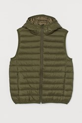 Handm H M Lightweight Hooded Vest Green