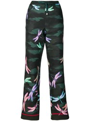 F.R.S For Restless Sleepers Dragonfly Print Trousers Green