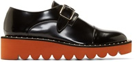 Stella Mccartney Black And Orange Platform Monk Shoes