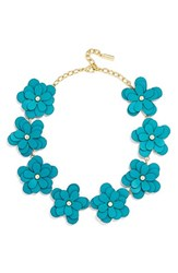 Women's Baublebar 'Zoe' Leather Flower Collar Necklace
