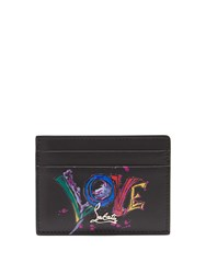 Christian Louboutin Kios Love Leather Cardholder Black Multi